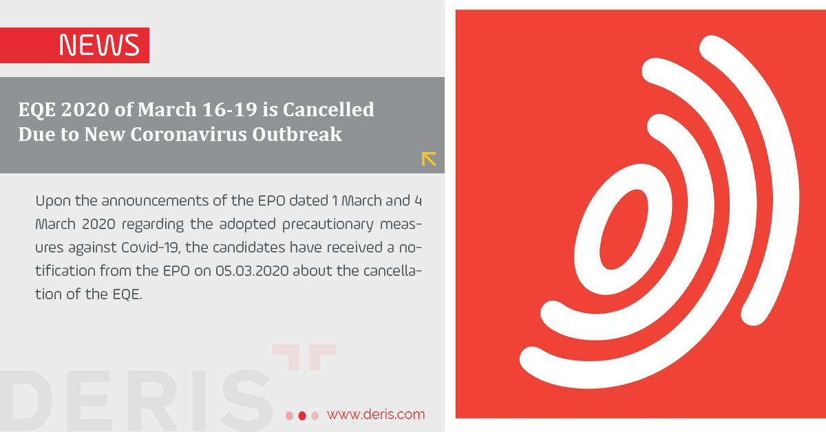 EQE 2020 of March 16-19 is Cancelled